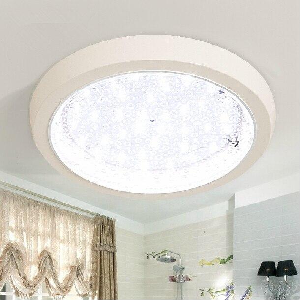 Modern Fashion 12w 15w Smd5730 Led Kitchen Plastic Ceiling Lamp Round Square Bathroom Glass Ceiling Light Fixture Ac180v 265v