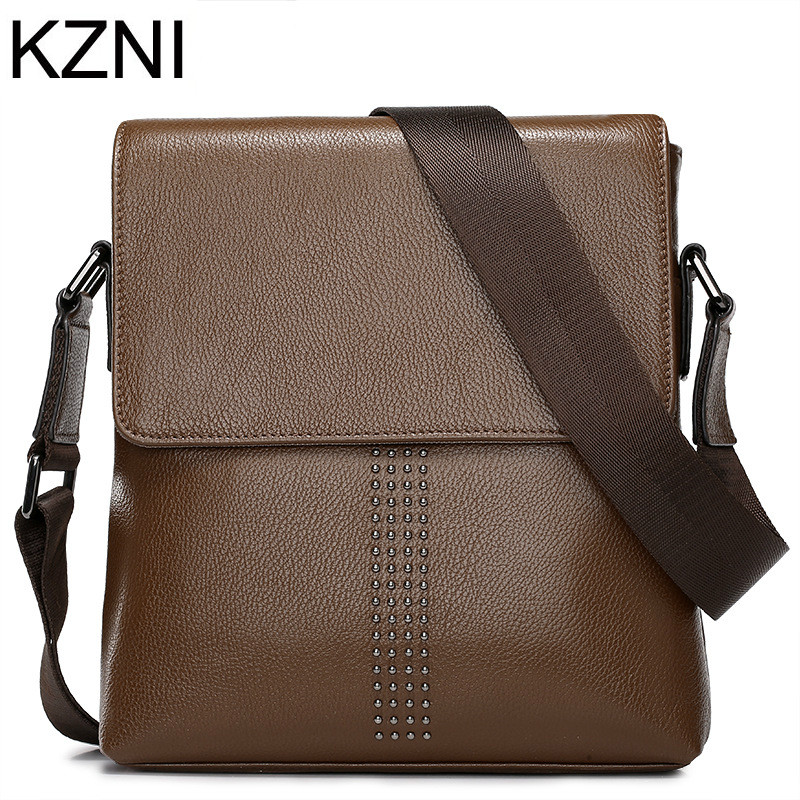 ФОТО KZNI bags handbags Men famous brands genuine leather vintage bags Men bolsas femininas bolsas de marcas famosas L031506