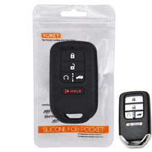 Voor Honda Civic Accord Cr v Pilot Crv 2015 2016 2017 2018 Houder Shell Protector 5 Knop Silicone Remote autosleutel Geval Fob Cover