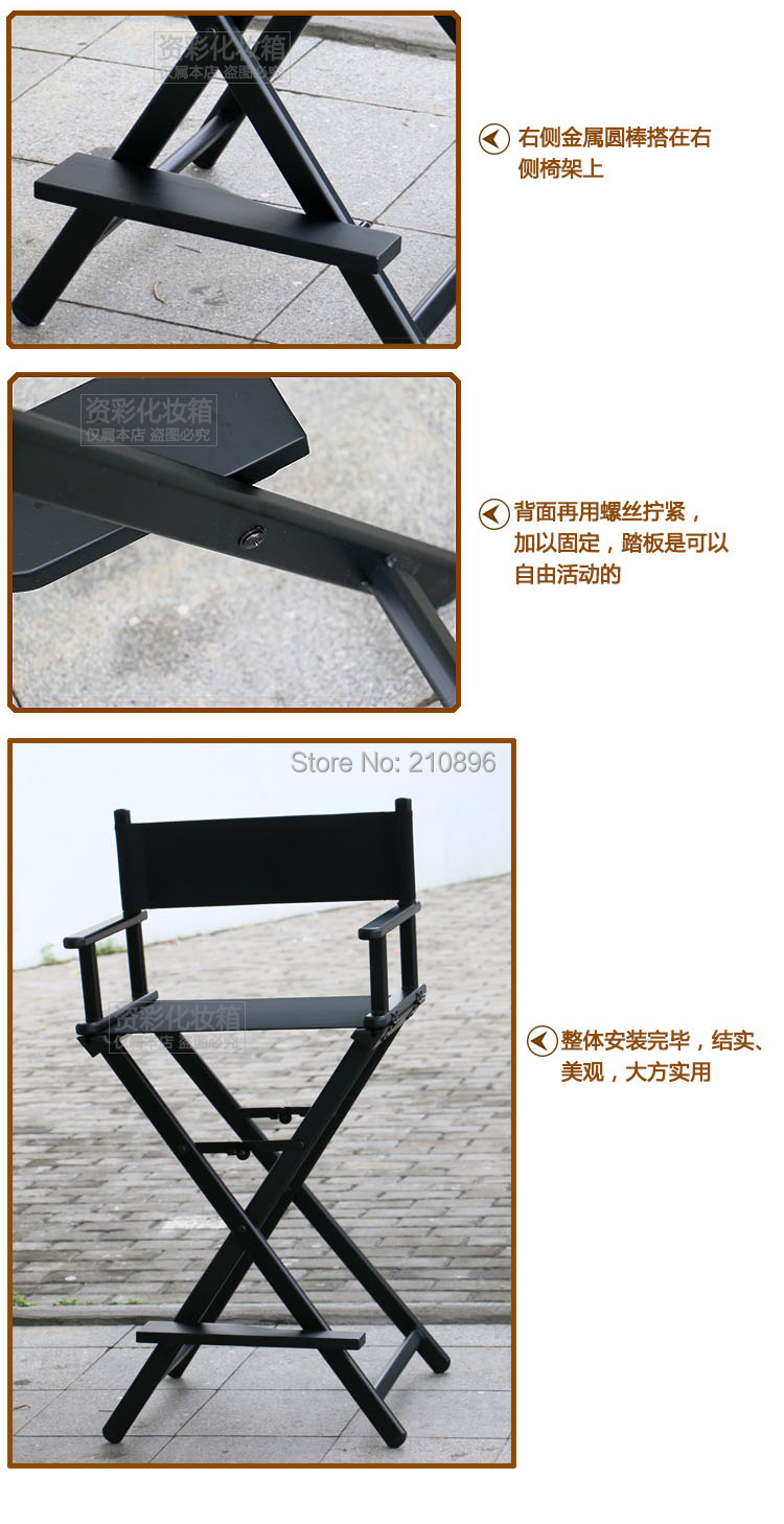 Portable makeup chair - Online Shop Portable Director Chairs Aluminum Makeup Chair Foldable Artist Hairdressing Chair Aliexpress Mobile
