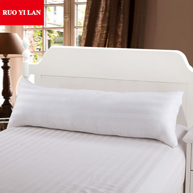Un Blanc 100% Coton 50*150 cm Étreignant Oreiller Intérieure Mirco