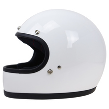 Pure Handmade vintage motorcycle helmet Full face Light weight Fiberglass Shell DOT ECE approve