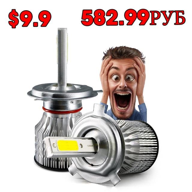 2 PCS H7 LED Car Headlights H4 LED H8 H11 H9 9005 9006 HB4 HB3 Diodes For Cars Motorcycle 6500K 12V 24V Auto Headlamp Light Bulb