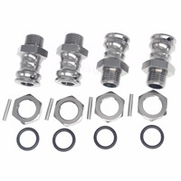 5Set Lot Aluminum 17mm Hex 23mm Wheel Extension Adapter Drive Hub For 1 8 Scale RC
