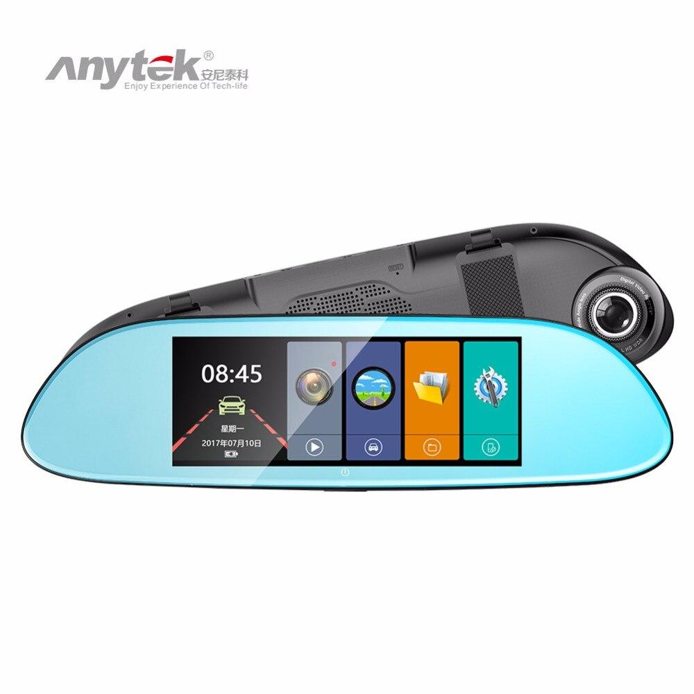 Anytek T80 7in FHD 1080P Car DVR Camera Video Recorder Rearview Mirror Digital Recorder G-sensor Night Vision Dash Cam plusobd car recorder rearview mirror camera hd dvr for bmw x1 e90 e91 e87 e84 car black box 1080p with g sensor loop recording