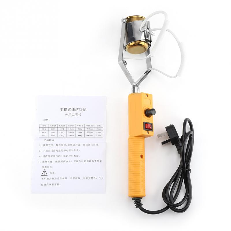 180W/280W Electric Tin Soldering Pot Portable Solder Pot Melting Tin Furnace with Temperature Control Soldering Iron Tools proskit soldering iron lead free solder pot soldering desoldering bath tin melting furnace wire tinning tool