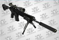 3D Paper Model HK417 Sniper Rifle Gun Weapon CS Equipped with bullet stereoscopic scale 1: 1 Handmade Toy