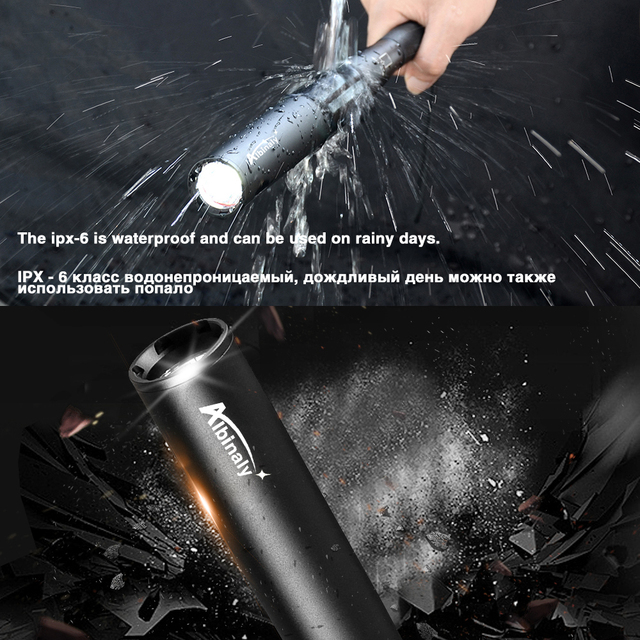 Baseball Bat LED Flashlight waterproof Super Bright Baton aluminium alloy Torch for Emergency and Self Defense 5