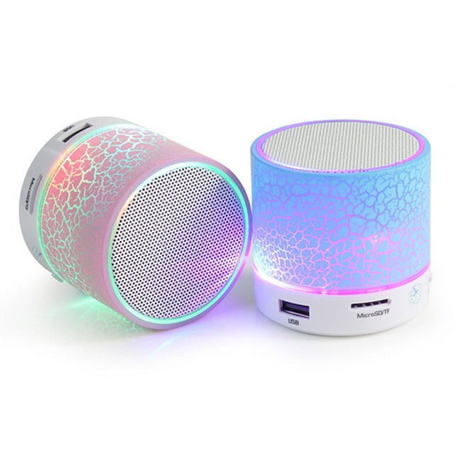 Tiandiren LED Glow MINI Bluetooth Speaker Wireless Portable Music Sound Loudspeakers Caixa De Som Support Micro SD usb Disk