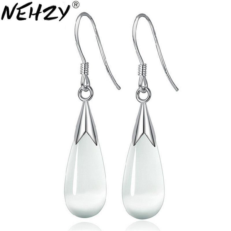 Silver Colour long section of female models opal drop earrings cute earrings fashion wild super flash jewelry vintage jewelry