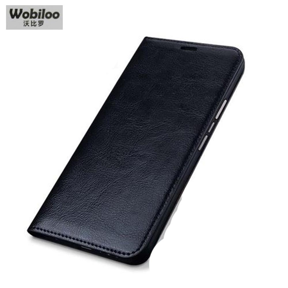 bilder für Wobiloo Marke Fällen Classic Leinwandbindung Business Flip Telefonkasten Zubehör Echtes für Blackberry Priv