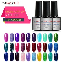T-TIAO CLUB UV Nail Gel Polish 7ml Glitter Super Shine Shimmer Manicure Soak Off Art Varnish