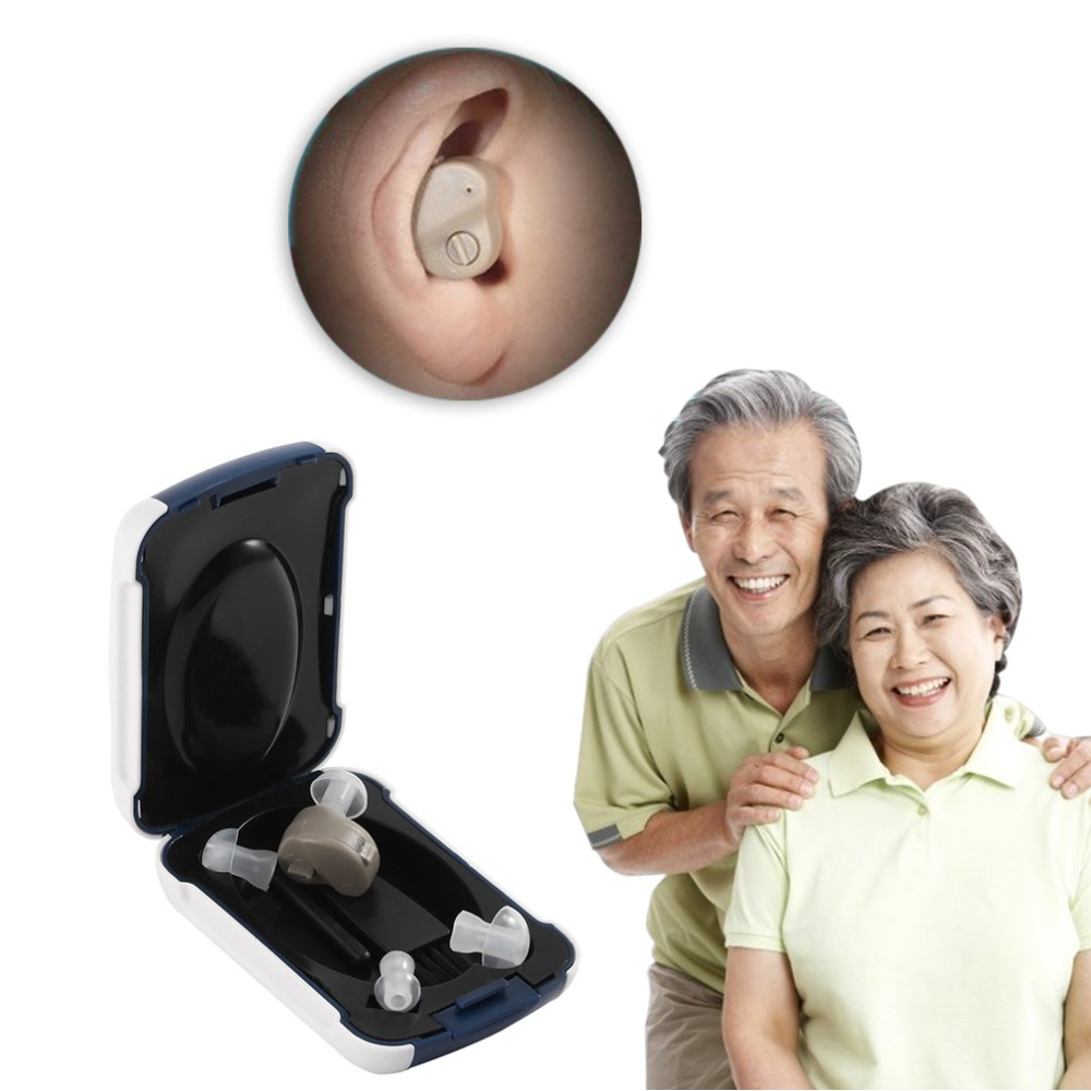 Portable Small In-Ear Sound Voice Amplifier Adjustable Tone Mini Hearing Ear Aid Hearing Aids for deaf people for the elderly hearing aid clear voice behind the ear hearing aids available aerophone volume adjustable deaf people ear caring newest device