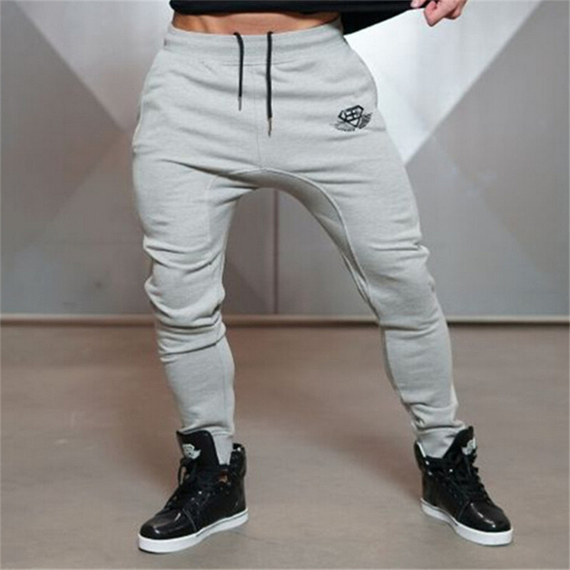 2017 Mens Brand Clothing Jogger Pants Men Fitness Bodybuilding Pants For Runners Autumn Sweat Trousers Britches