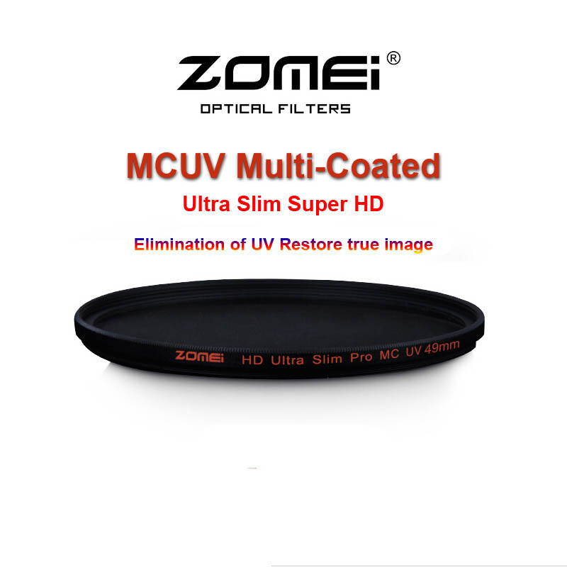 Zomei 52 55 58 62 67 72 77 82mm pro magro hd mcuv mc filtro uv  multi-revestido de vidro óptico lente de filtro para canon nikon sony hoya 34313a285c