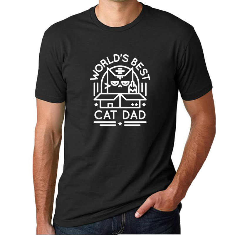 7e2c6e28 Detail Feedback Questions about Mens Best Cat Dad Ever Cat Face T ...