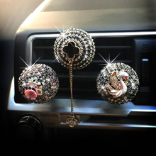 CDCOTN 2PCS Car Air Freshen Perfume Diamond ball conditioning Outlet Clip Accessories Decoration For Girl