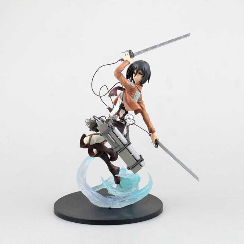 Spot Anime Attack on Titan Mikasa Ackerman 1/8 Complete PVC Action Figure Collectible Toy 10 25CM Holiday gifts Free shipping attack on titan anime 17 cm mikasa ackerman battle version pvc anime figure collection doll model toy kids toys pm scene tw18