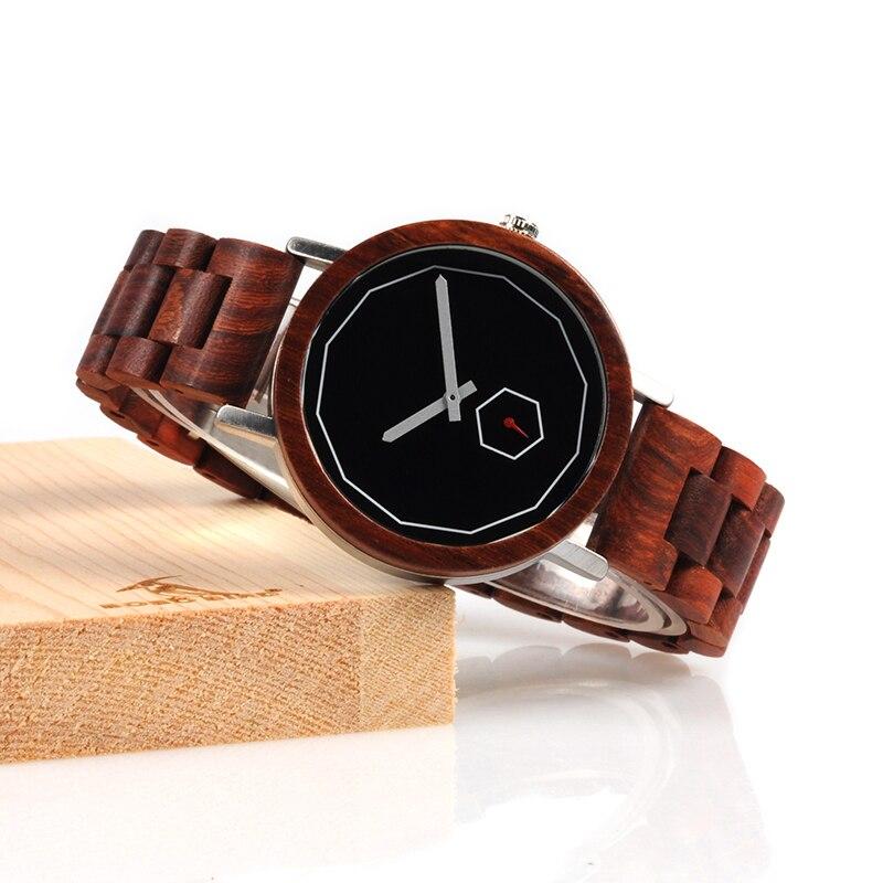 BOBO BIRD LM29 de luxe hommes rouge en bois montres dames moderne en acier inoxydable montre personnaliser livraison directe en Carton
