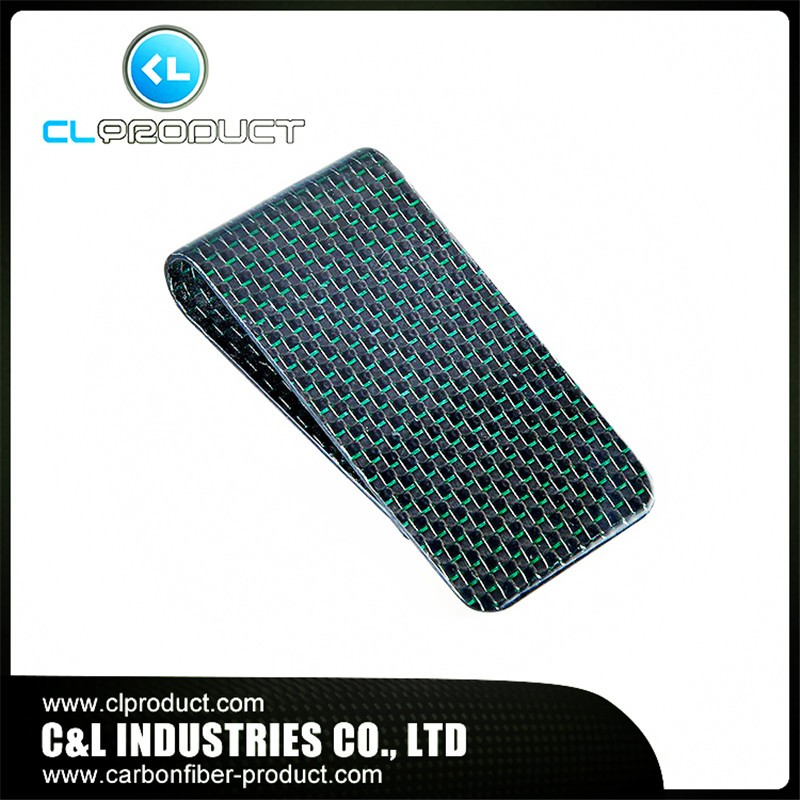 Carbon fiber money clip Green (3)