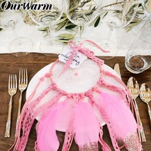 OurWarm Mini Dream Catcher with Kraft Gift Bag Wedding Favors and Gifts for Boho Souvenirs