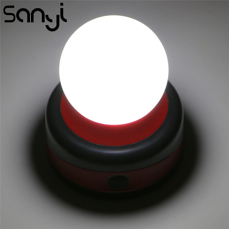 SANYI LED Working Light For Camping Finshing Night Light By 3*AA Battery  Portable Lamp Lanterna Torch
