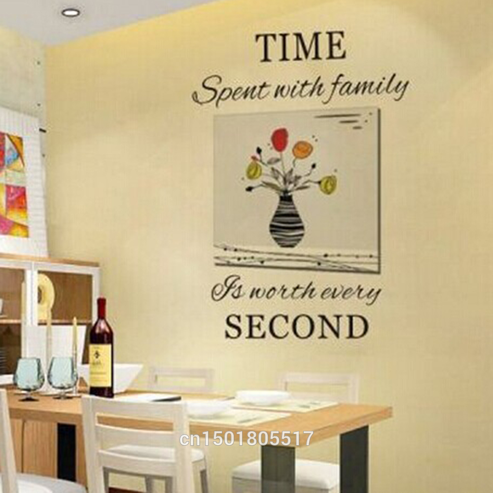 photo clock Time Spent With Family Quote Wall Decoration Letters ...