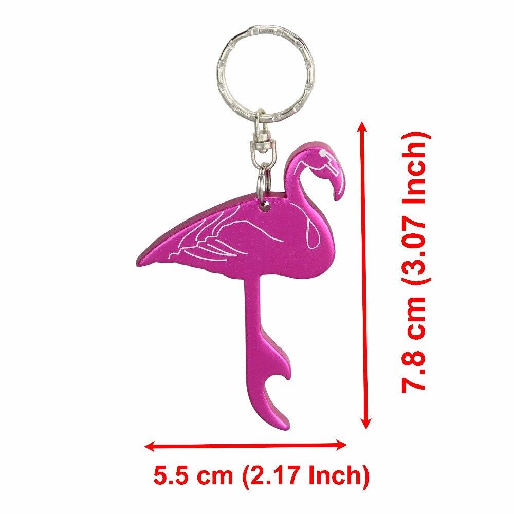 TEMLUM 1 Pcs Flamingo Beer Bottle Opener Keychains Aluminum Alloy ...