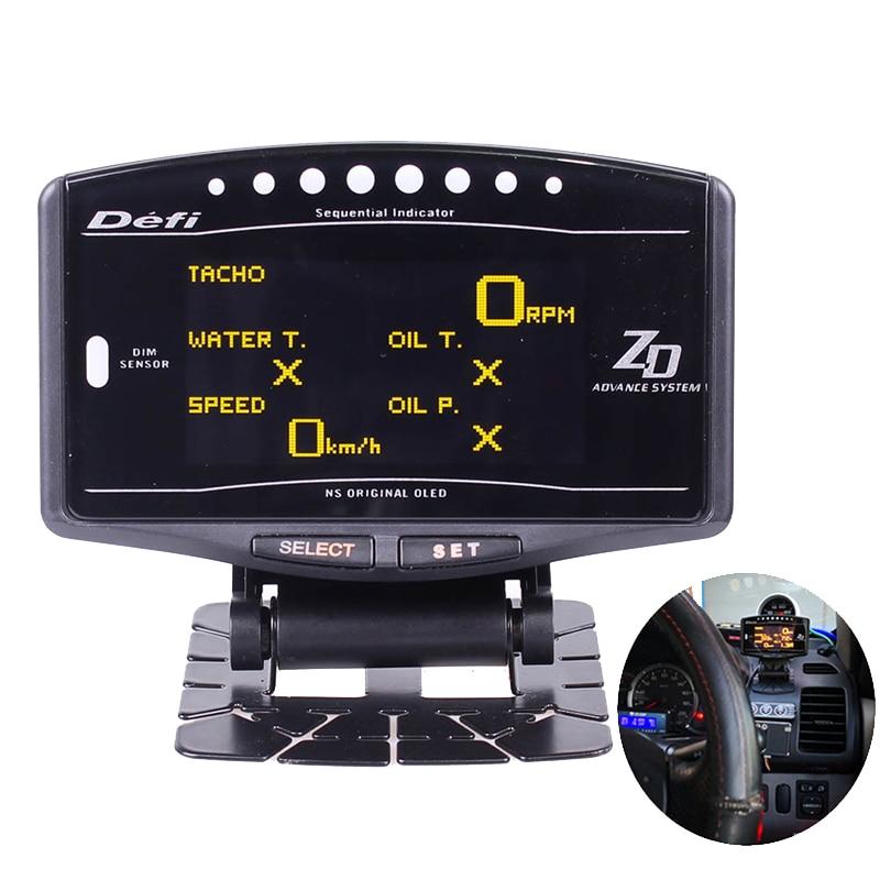 10 en 1 Kit complet sport paquet BF CR EXT TEMP DEFI Advance ZD Link mètre numérique Auto jauge numérique tachymètre tr/min pression d'huile