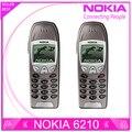 6210 restaurado original nokia 6210 teléfono celular móvil 2g gsm 900/1800 abrió el teléfono móvil