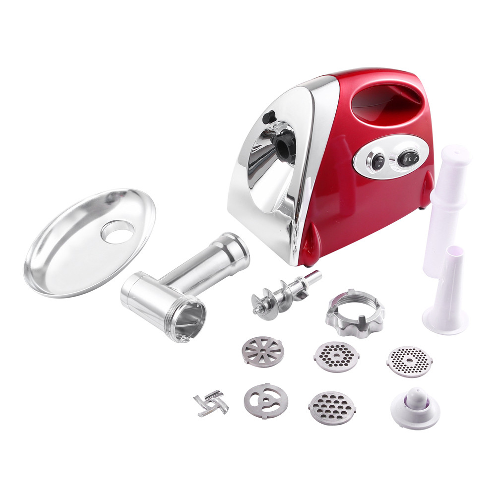 Electric Meat Grinder Kitchen Mincer 800W Sausage Stuffer 3 Cutting Plates Sausage Topper Attachment Metal Gears Meat grinderElectric Meat Grinder Kitchen Mincer 800W Sausage Stuffer 3 Cutting Plates Sausage Topper Attachment Metal Gears Meat grinder