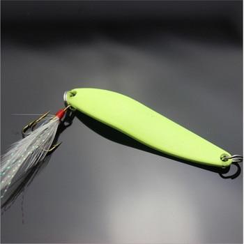 פתיון דמוי דג זוהר נוצה בזנב במשקלים עד 13 גרם