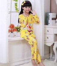 New Listing 2017 Autumn&Spring Baby Sleepwears Suit Lovely Gilr Pajamas Children Pyjamas Girls Cartoon Pijamas Kids Clothing set