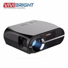LED Proyector de VIVIBRIGHT GP100. 1280×800 Resolución 3200 Lúmenes Soporte Full HD, Pro Consumidor Reproductor Multimedia Proyector LED TV