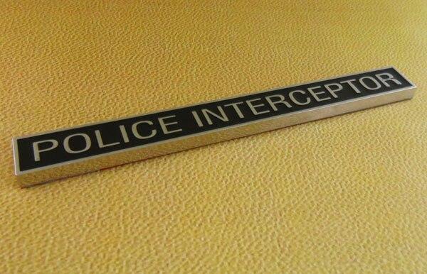 Auto Black police interceptor for 92-11 Crown Victoria Emblem Badge Sticker police pl 12921jsb 02m