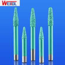 WeiTol 1 piece 6mm Vacuum brazed stone bits CNC marble cutting tools CNC machine stone cutter bits for granite(China)