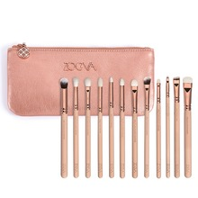 Nice quality Zoeva 12 pieces rose golden complete eye set eyeshadow eyeliner blending pencil makeup brushes