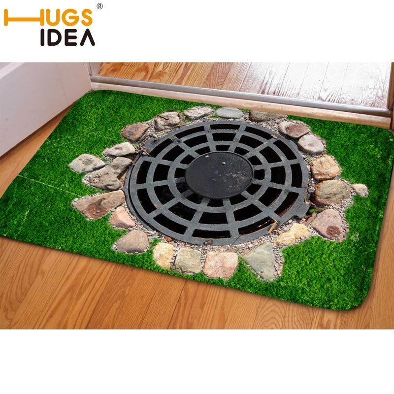 HUGSIDEA 3D Falle Grün Lustige Eingang Fußmatte Weiche - Haustextilien - Foto 4