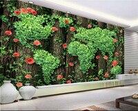 Beibehang 3D Wallpaper gráficos Foto Árboles Rosas Vides Verdes Hojas de papel Decorativo De Pared de la Sala papel de parede papel pintado