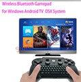 2016 el más nuevo Wireless Bluetooth Gamepad controlador de juegos Joystick con teclado para Windows sistema sistema Android TV Box TV juego