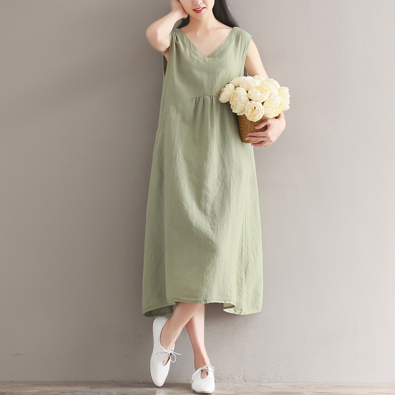 Vestiti Donna Harajuku Vestito Donna Robes Femme Unice Linen Tunique Femme Jurkjes Kawaii Tunika Streetwear Women Summer Dress ...
