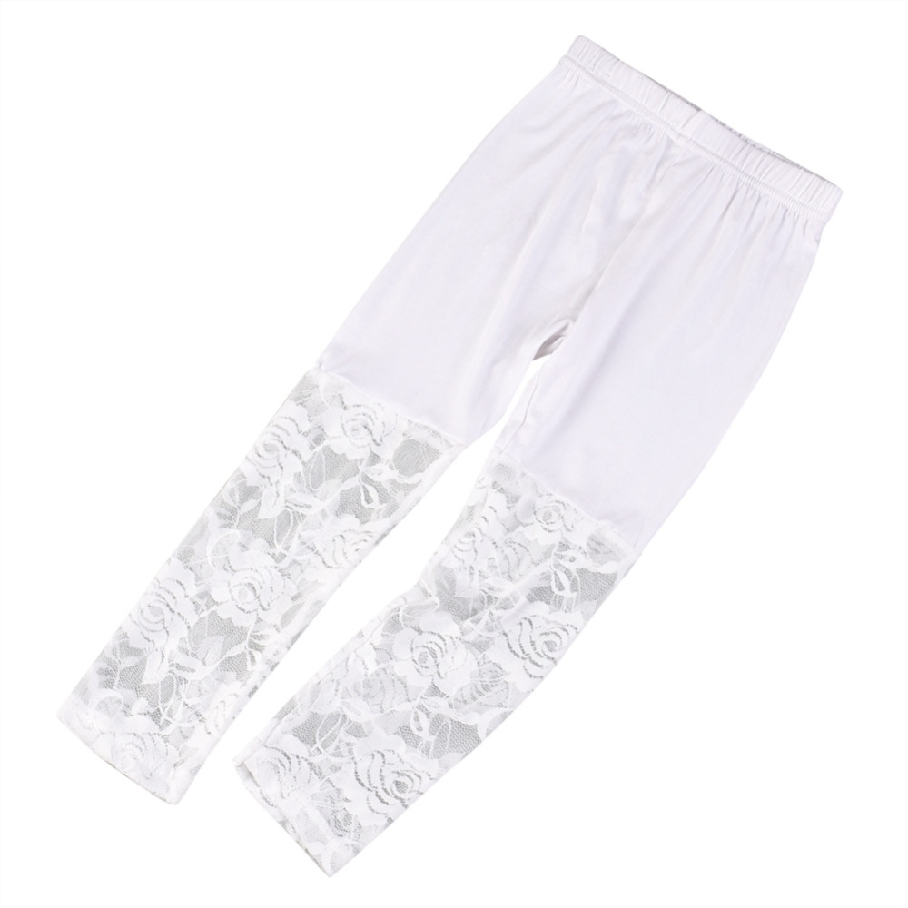One Piece Modal Cotton Floral Lace Korean Style Child Kid Baby Girl Pants Leggings in Pants from Mother Kids