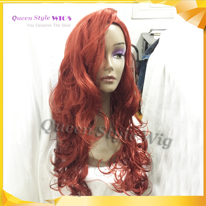 jessica rabbit natural cosplay wig copper red hair long wavy volume hairstyle wig halloween costume wig adult costumes wigs on aliexpresscom alibaba