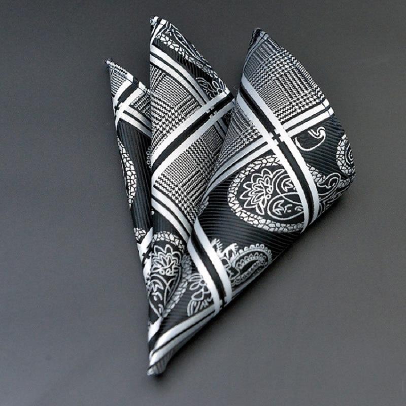 Polka Dots Striped Handkerchief Wedding Polyester Printed Hanky Men's Fashion Business Pocket Square Towel 25*25CM