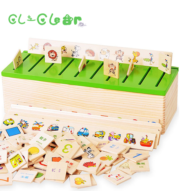 New Montessori Educational Wooden Game Recognition Toy Baby Kids Early Learning Classification Box Toys for Children Math Toys wooden snail balance toy building blocks children early educational toys montessori clown training balancing toys kids game gift