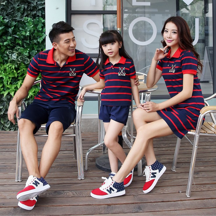 2016 New Kids Summer Children Mother Mother Arranged To Open The Barrel With Three Stripes Fir