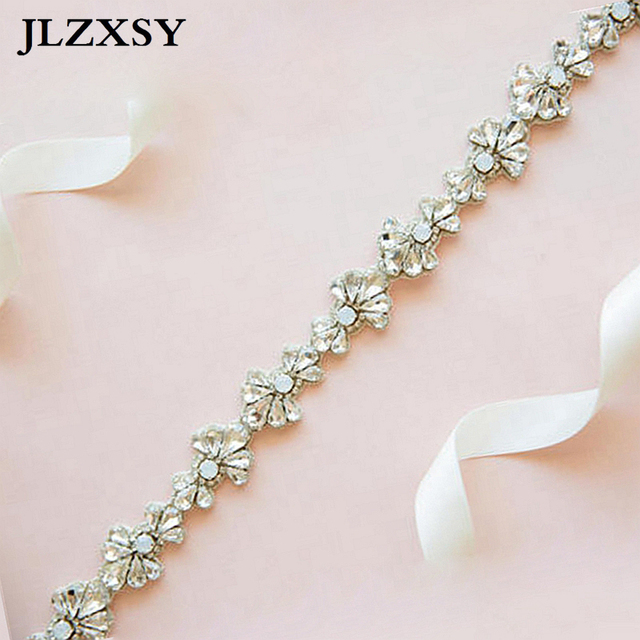 JLZXSY Mode Bloem Stijl Crystal Bridal Sash Rhinestone Wedding Party Bridal  Riem Bruidsmeisje Riem Jurk Sash (18 0.75 inches) a5646df11939