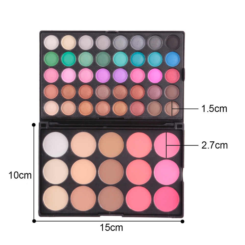 POPFEEL 55 Colors Magnetic Palette Silky Powder Refill Eyeshadow Blush Matte Diamond Glitter Makeup Mirror Cosmetic Storage Tool
