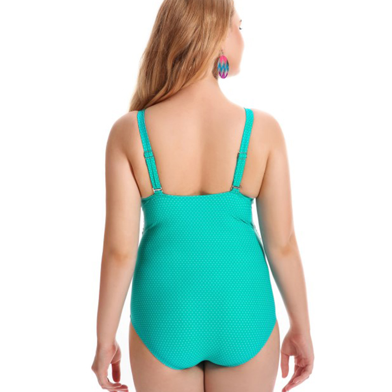 Verzy 2018 one-piece swimsuit women print floral sexy deep V neck female monokini 2 colors summer bathing suit plus large size