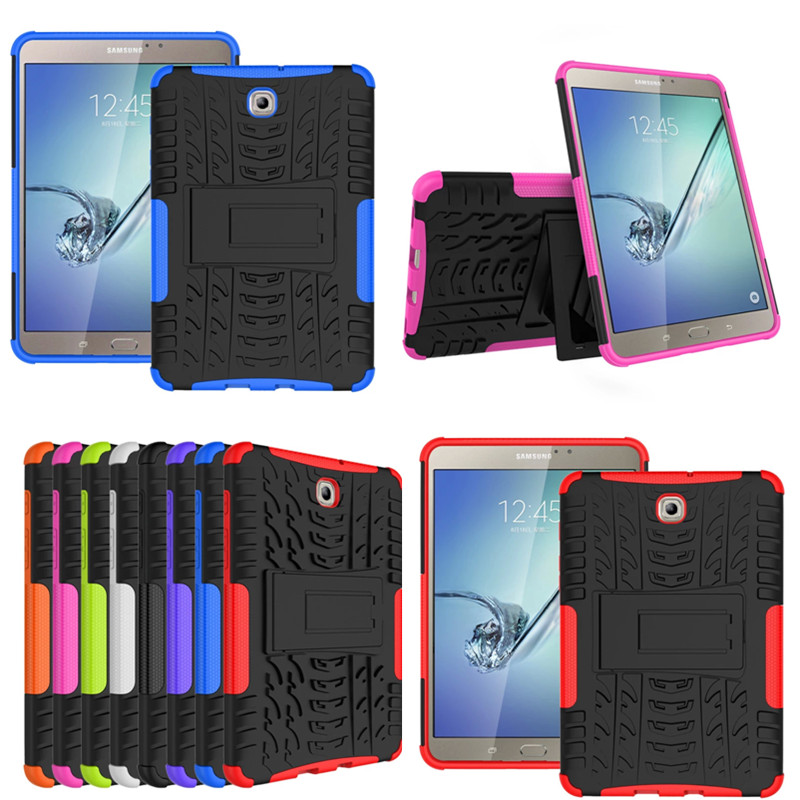 HH Heavy Duty Armor Tire Style Hybrid TPU PC Hard Cover Case for Samsung GALAXY Tab S2 8.0'' SM T710 T715 T713 T719 tablet PC new x line soft clear tpu case gel back cover for samsung galaxy tab s2 s 2 ii sii 8 0 tablet case t715 t710 t715c silicon case